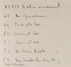 Yale, GEN MSS 808, Table of contents v