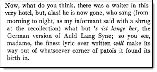 Booth, Bradford A. and Ernest Mehew. Letters of Robert Louis Stevenson. New Haven: Yale University Press, 1995: Letter 105, August 1, 1872.